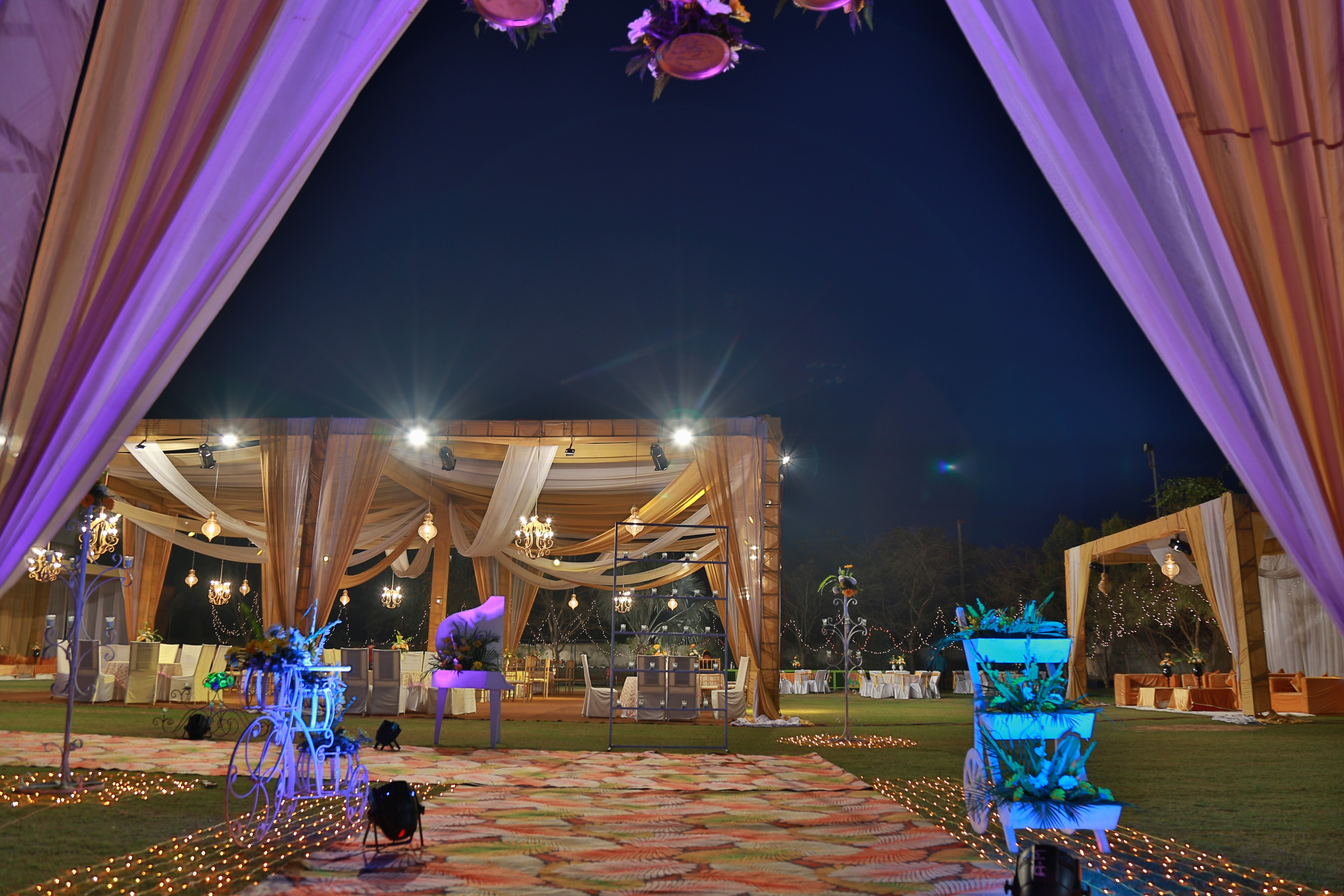 marriage in lawn in zirakpur